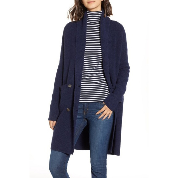 06bd658c03a J. Crew Double-breasted Cardigan Coat - Navy - NWT NWT